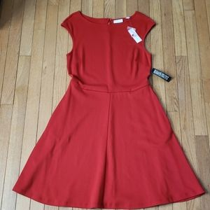 NWT NY&C Red or Blue Fit & Flare Dress